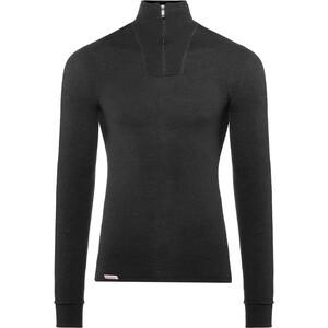 Woolpower 200 Sweat-shirt à col roulé avec demi-zip, noir noir