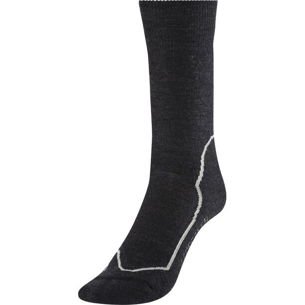 Icebreaker Hike+ Medium Crew Socken Damen jet hthr/silver/black