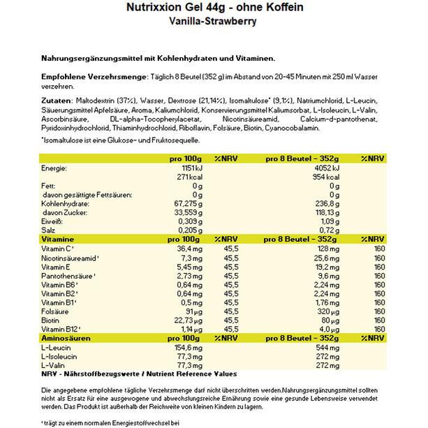 Nutrixxion Energigel boks 24 x 44g, Mixed