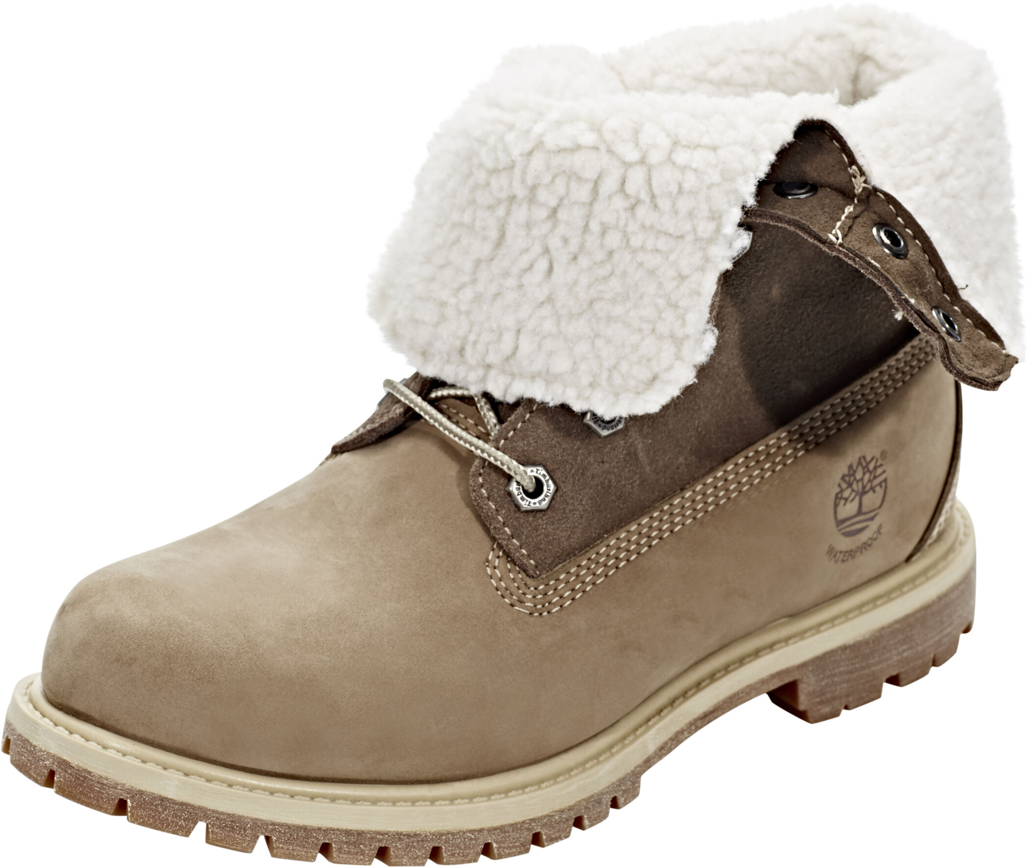 Damen Authentics Teddy Fleece WP Schuhe taupe US 9