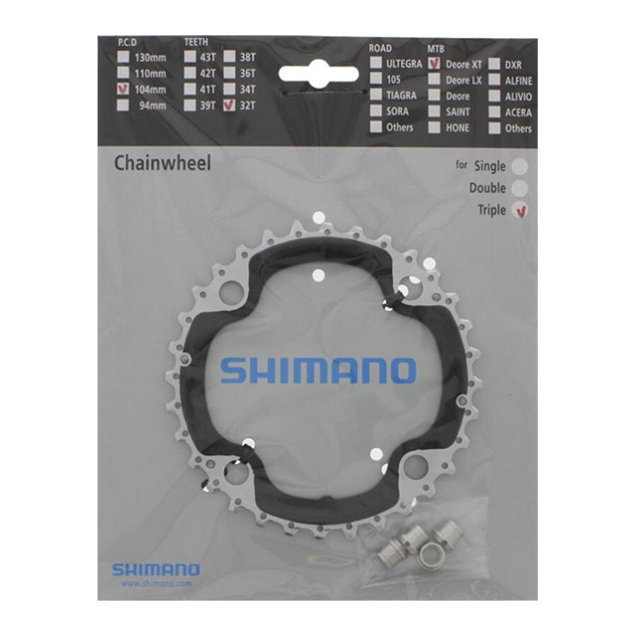 Shimano Deore XT FC-M782 Kettenblatt 96 BCD silber Ausf/ührung 30 Z/ähne 2016 Kettenbl/ätter