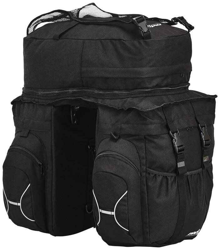 Elite Touring Set Gepäckträgertaschen schwarz 2017 Gepäckträgertaschen