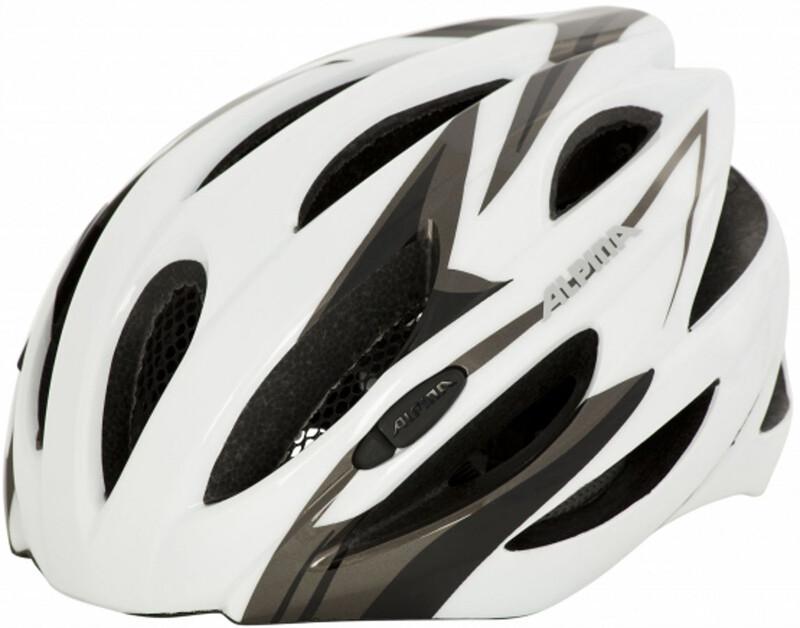 Alpina Cybric Helmet white-black 53-57 cm 2018 Fahrradhelme