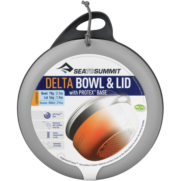 Sea to Summit Delta Bowl with Lid grey