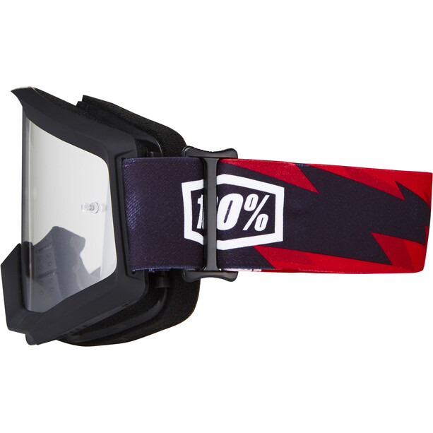 100% Strata Goggles slash/anti fog clear