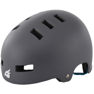 bluegrass Super Bold Dirt-Helmet matt gray/cyan matt gray/cyan