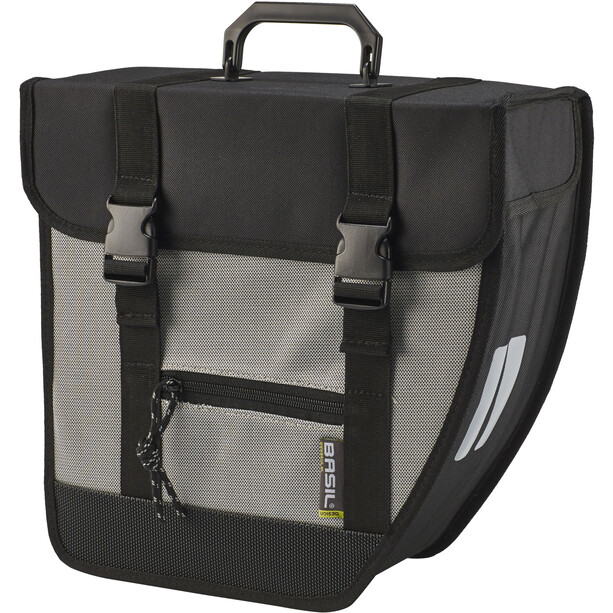 Basil Tour Right Single Pannier Bag 17l, black/silver