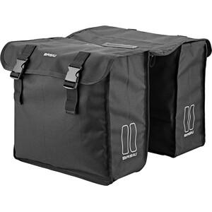 Basil Mara XL Double Pannier Bag 35l, noir noir