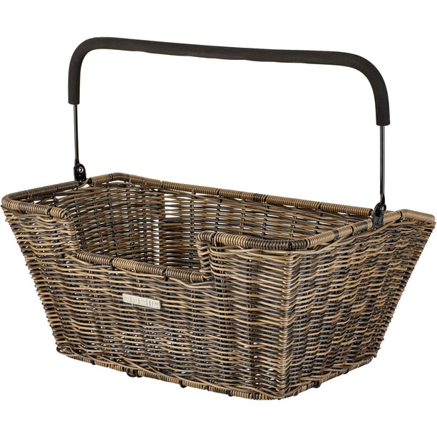 Basil Capri Rattan Look Fahrradkorb für Lenker/Gepäckträger braun