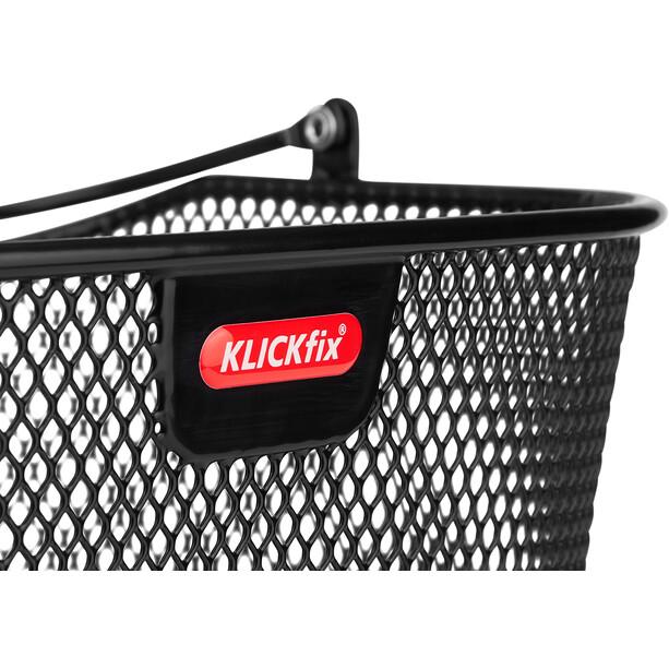 KlickFix Uni Plus Front Basket svart