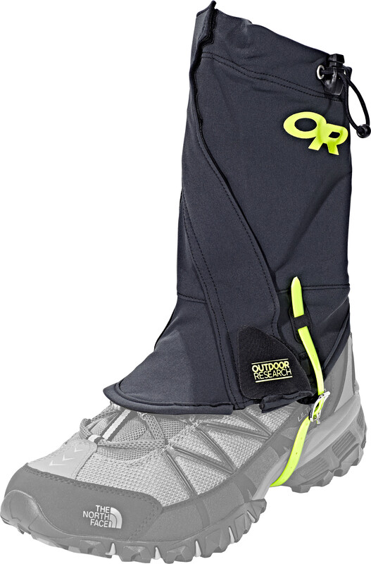Outdoor Research Endurance Gaiters Men black/lemongrass 2017 Gamaschen, Gr. S/M