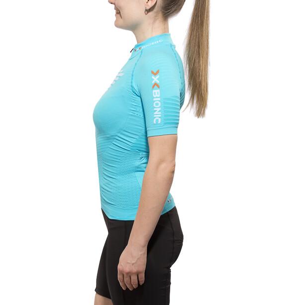 X-Bionic Effektor Power Fahrrad Trikot SS Full-Zip Damen turquoise/white