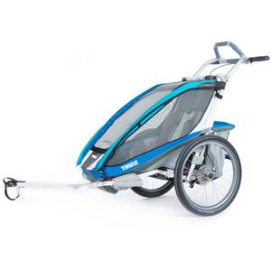 Thule Chariot CX 1 Bike Trailer + Fahrradset blau blau