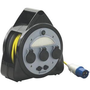 Outwell Mensa Tambor de cable de 3 conectores para red eléctrica con USB/luz