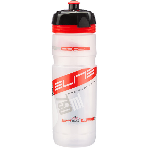Elite Super Corsa Trinkflasche 750ml transparent/rot