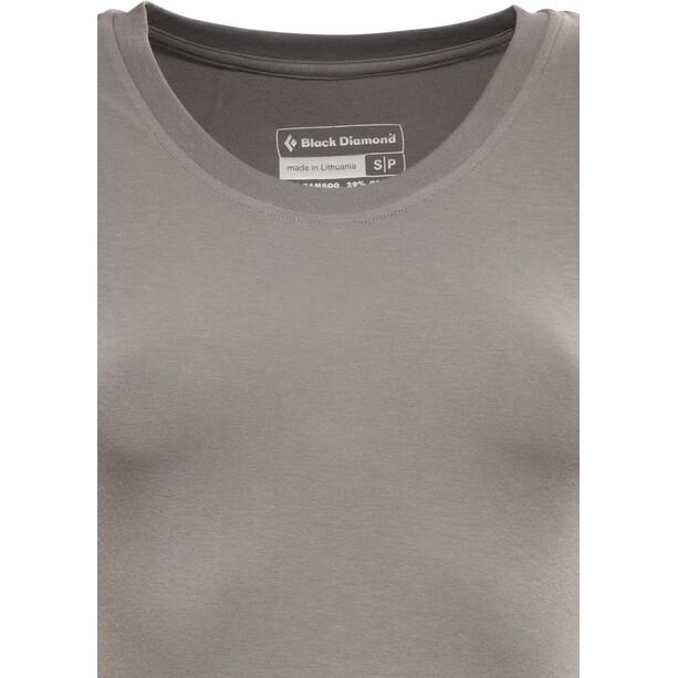 Black Diamond Map T-paita Naiset, harmaa