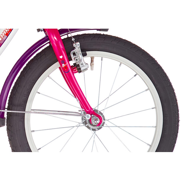 """Vermont Girly 16"""" Mädchen weiß/pink"""