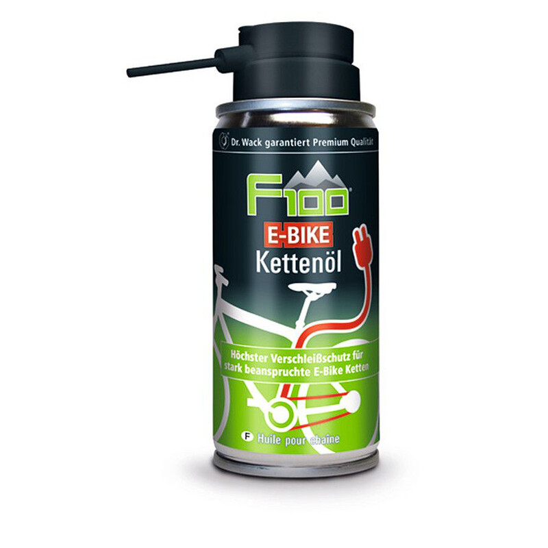 F100 Kjedeolje El-sykkel Spray, 100 ml Grønn/Svart  2018 Smøremiddel