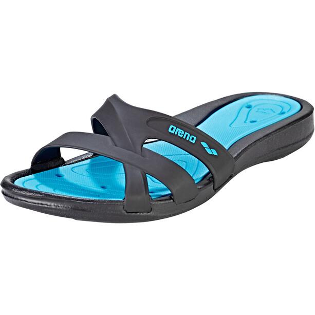arena Athena Hook Sandalen Damen schwarz/blau