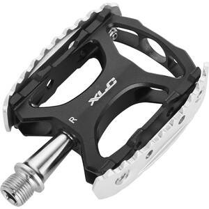 XLC PD-M17 Pedales MTB/Trekking, negro/Plateado negro/Plateado