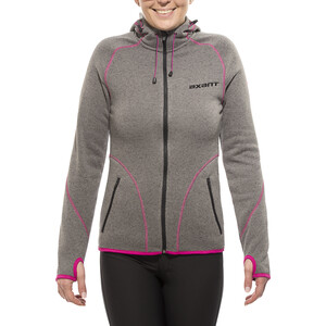 axant Anden Fleecejacke Damen charcoal grey/fuchsia red charcoal grey/fuchsia red