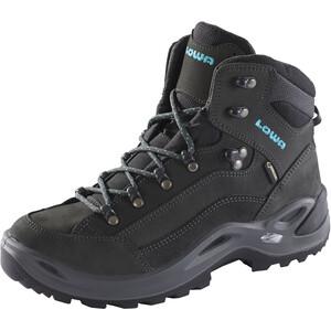 Lowa Renegade GTX Mid-Cut Schuhe Damen anthracite/turquoise anthracite/turquoise