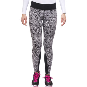 Nike Epic Printed Lauf-Tights Damen black/mslvr black/mslvr