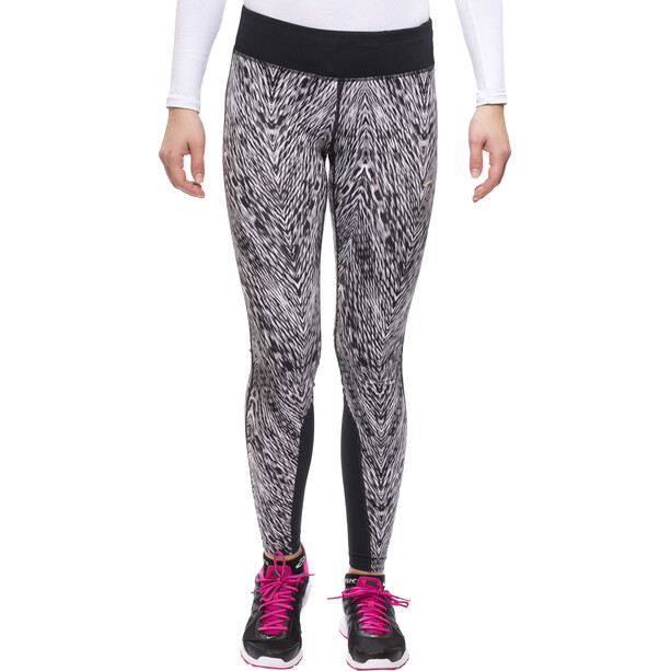Nike Epic Printed Lauf-Tights Damen black/mslvr