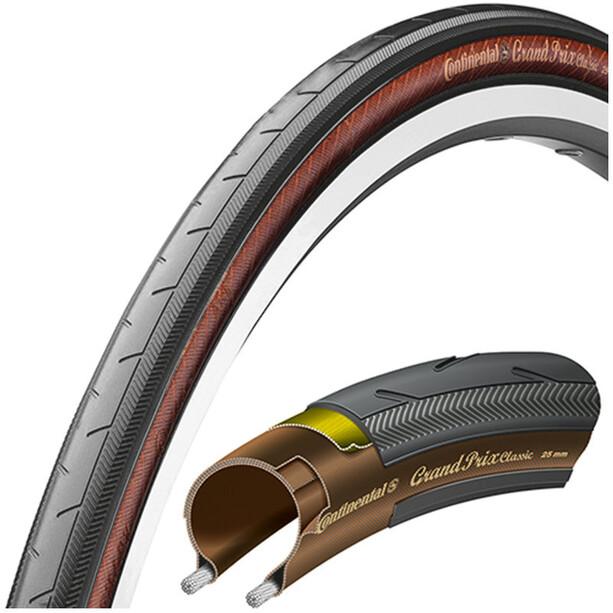 Continental Grand Prix Classic Folding Tyre 25-622 Svart/Transparent