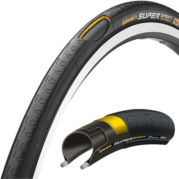 Continental Super Sport Plus Tyre 28 inch, foldable black