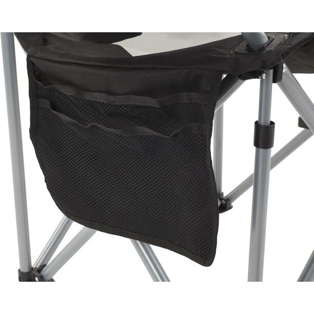 CAMPZ Deluxe Faltstuhl grau/schwarz