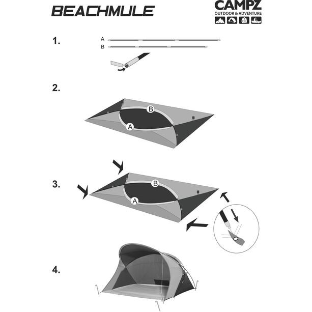 CAMPZ Beachmule Strandmuschel beige/grau