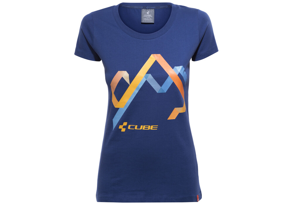 cube hills t shirt damen blue online kaufen. Black Bedroom Furniture Sets. Home Design Ideas