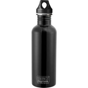 360° degrees Stainless Trinkflasche 1000ml schwarz schwarz