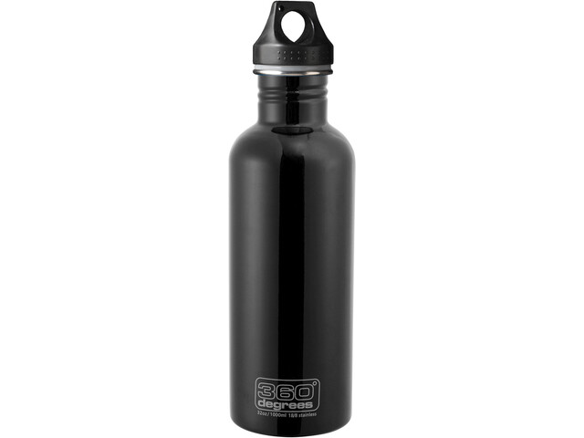 360 degrees stainless drink bottle 1000ml black. Black Bedroom Furniture Sets. Home Design Ideas