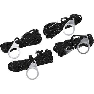 CAMPZ Zeltleine 4m 4mm schwarz schwarz