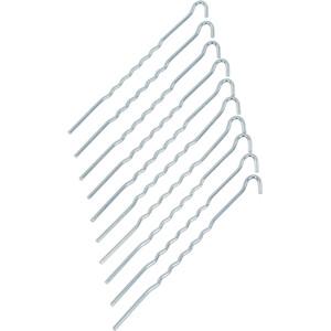 CAMPZ Stahl Erdnagel 22cm Gewellt silber silber