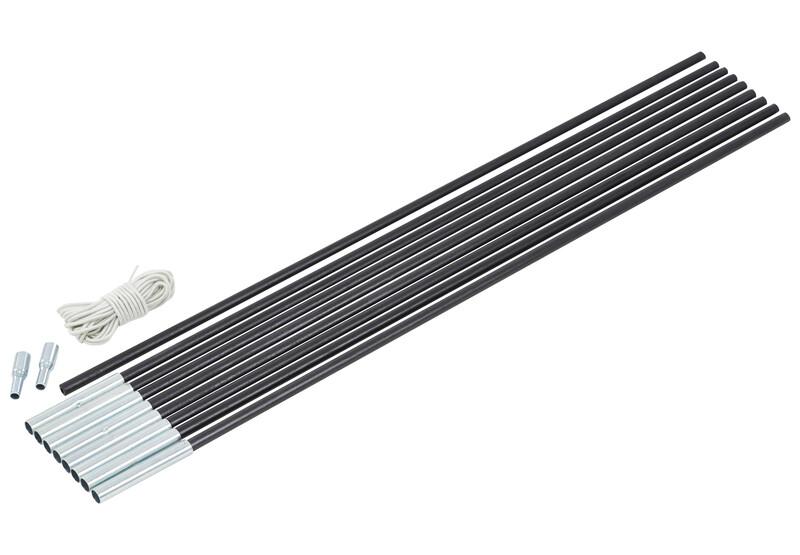 CAMPZ Glasfaser Gestänge-Set 8mm/4,55m schwarz Zeltstangen Z59005S