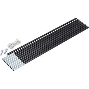 CAMPZ Glasfaser Gestänge-Set 11mm/4,55m schwarz schwarz