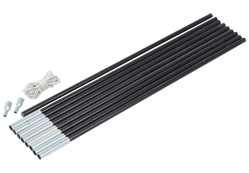 CAMPZ Glasfaser Gestänge-Set 11mm/4,55m schwarz Zeltstangen Z59006S
