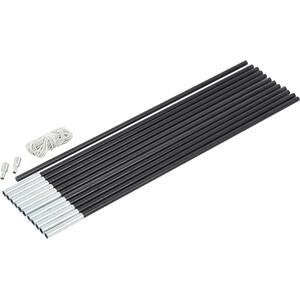 CAMPZ Glasfaser Gestänge-Set 9mm/6,0m schwarz schwarz