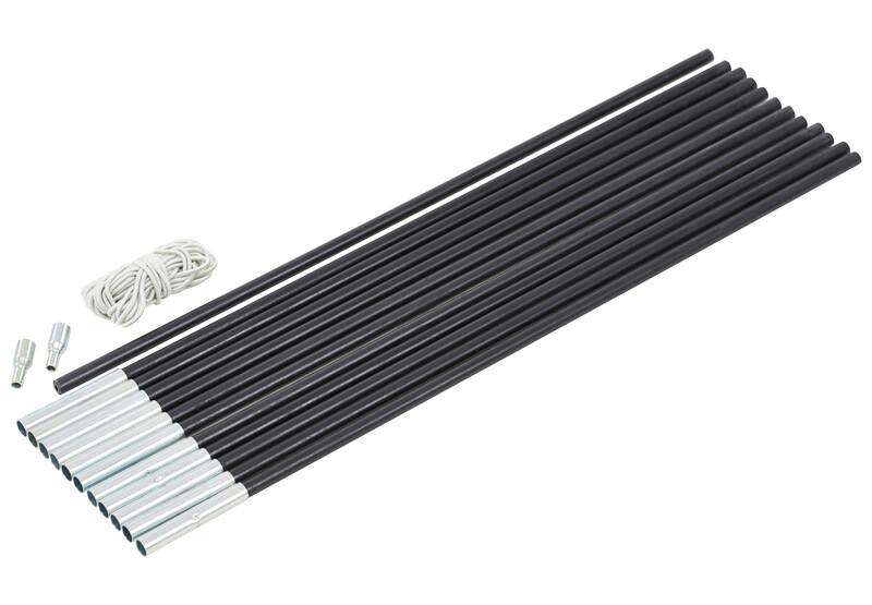 CAMPZ Glasfaser Gestänge-Set 9mm/6,0m schwarz Zeltstangen Z59020S