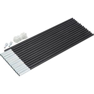 CAMPZ Glasfaser Gestänge-Set 13mm/7,0m schwarz schwarz