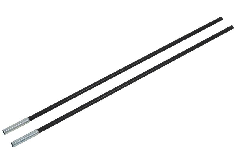 CAMPZ Glasfaserstab mit Hülse 11mm/0,65m schwarz Zeltstangen Z59017S