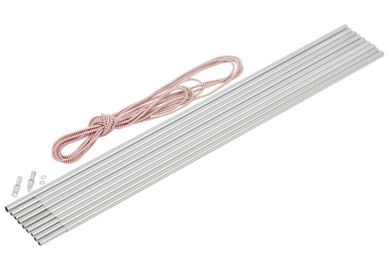 CAMPZ Bogengestänge Alu 8,5mm/4,65m grau/silber Zeltstangen Z59200S