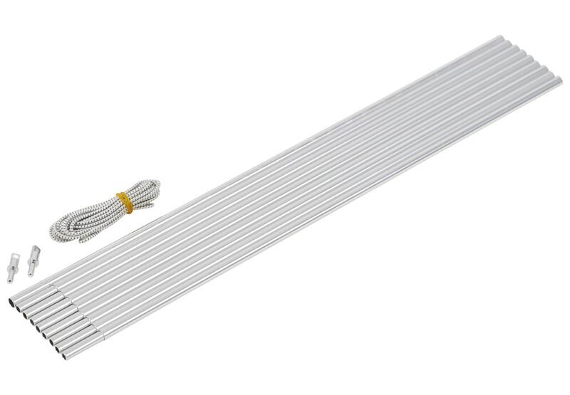 CAMPZ Bogengestänge Alu 9,5mm 4,65m grau/silber Zeltstangen Z59305S