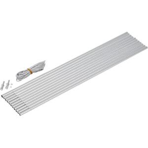 CAMPZ Bogengestänge Alu 9,5mm/5,0m grau/silber grau/silber