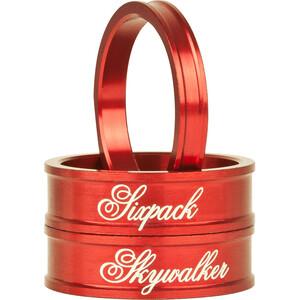 "Sixpack Skywalker Spacer 1 1/8 "" rød rød"