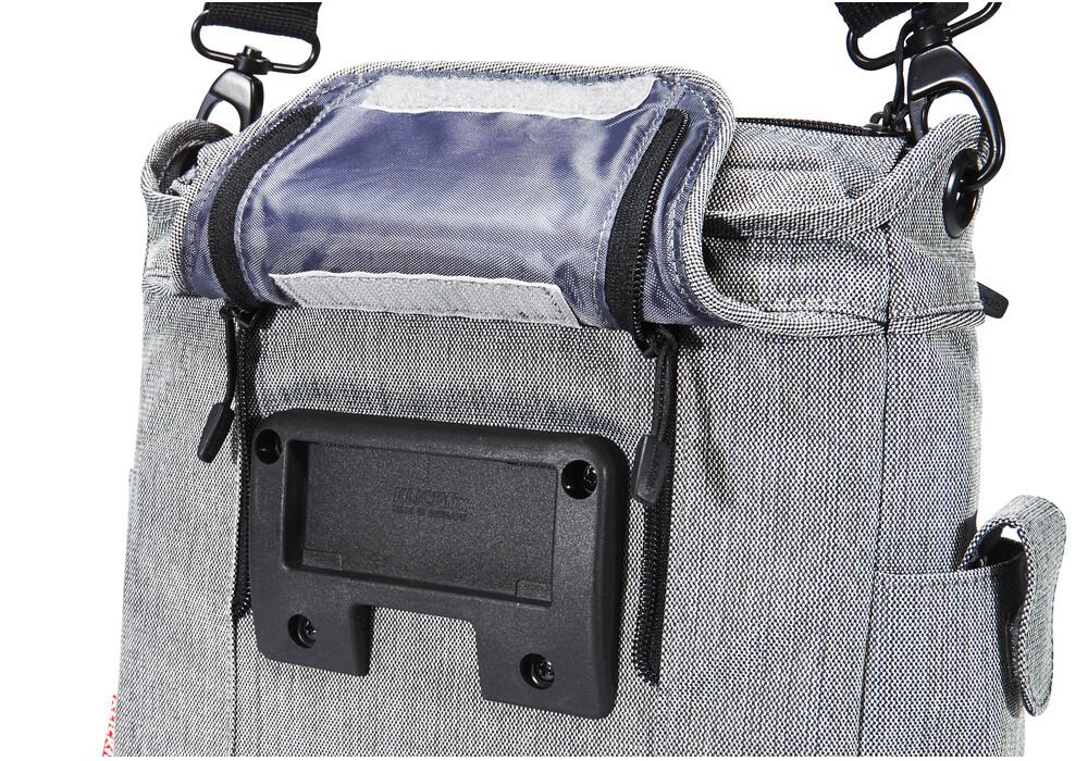 klickfix allegra fashion lenkertasche grau g nstig kaufen. Black Bedroom Furniture Sets. Home Design Ideas