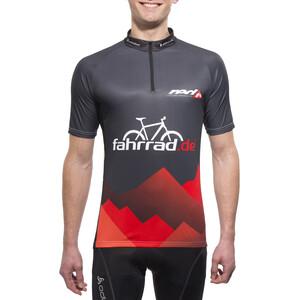 fahrrad.de Basic Team Trikot Herren schwarz/rot schwarz/rot